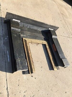 Sm5 Antique Slate Fireplace Mantle 60 Inches Wide 46 Inches High