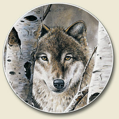 Wolf Wolves  2Ct Car Coasters