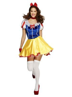 Ladies Snow White Costume Adult Fairytale Fairy Tale Ladies Fever Fancy Dress