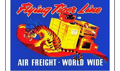 Flying Tiger Air Freight  Labels Stickers  Air Cargo Flying Tiger Airline Cargo