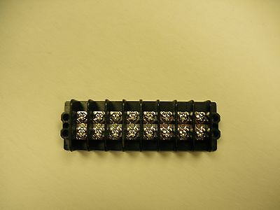 600V 20A Dual Row 8 Position Screw Terminal Barrier Block - NEW
