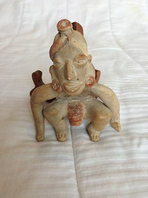 Pre Columbian Crouching Male Figure Ex John Houston Estate item!