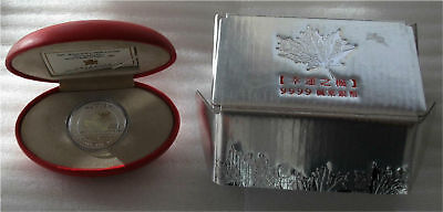 2001 Canada Silver Maple Leaf Of Good Fortune $5 Dollars  Hologram Proof