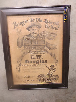 """1927 Original TURNER BROS MOTORCYCLES """"full page"""" The Sun Newspaper ADVERTISMENT"""