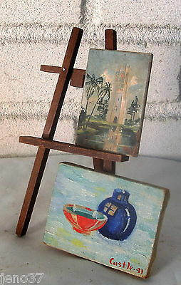 Lot Two Exquisite Antique Miniature Paintings Each Signed