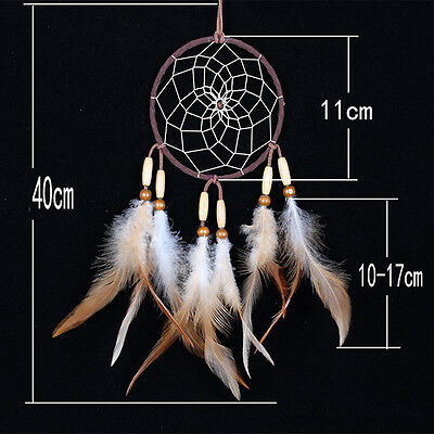 Dream Catcher Feathers Beads Handmade Wall Car Hanging Ornament Decoration