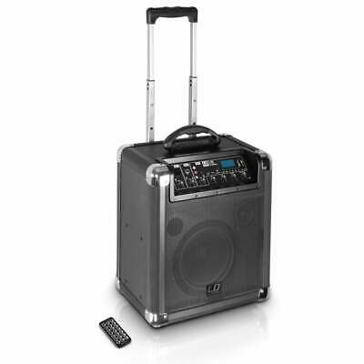 Road Jack 10 LD Systems Battery Powered Bluetooth Speaker w/ Mixer and Wheels