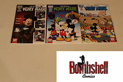 Mickey Mouse 1 2 3 Complete Sub Cover Comic Lot Run Set 1st Print Collection