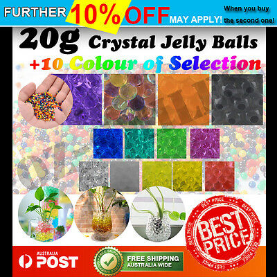 20g Crystal Soil Water Pearls Jelly Balls Beads Function Decoration For Wedding