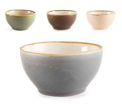 6 x Kiln Crockery Artisan Round Rice Serving Bowl 140mm - 4 colours available