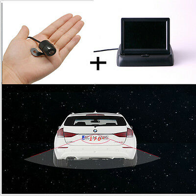 """TFT 4.3"""" Fold-up Screen + 170°Wide Angle CCD Rear View Parking Camera Waterproof"""