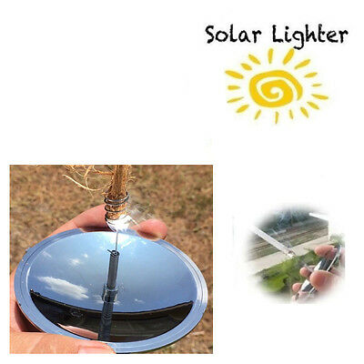 Survival Solar Lighter Fire Starter Outdoor Camping Hiking Emergency Equipment