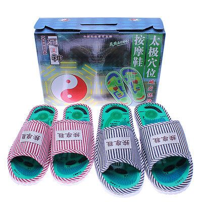 Healthy Reflexology Acupuncture Foot Massager Massage Sandals Shoes Slippers New