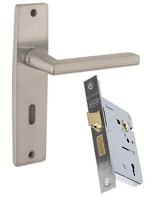 Venice Satin Chrome Handle (Internal Door 3 Lever Lock) Set - FOR 45MM FIRE DOOR