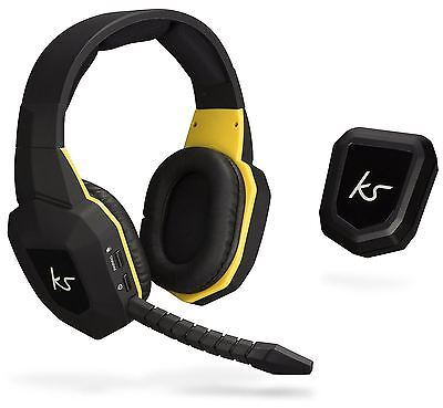 Kitsound Storm Wireless Gaming Cuffie & Mic Ps4/ps3 Pc Xbox One/360 Cuffie