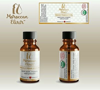 100% Organic, Cold Pressed, Moroccan Prickly Pear Seed Oil - Bye Argan Oil!