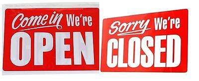 Reversible Open Closed Hanging Sign Shop Window Door Restaurant Bar Office Cafe