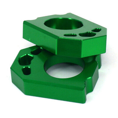 CNC Axle Block Chain Adjuster For KAWASAKI KX125/250 KX250/450F KLX450R Enduro