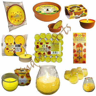 Prices Citronella Scented Glass Jar Candles Tea Lights Garden Party Outdoor