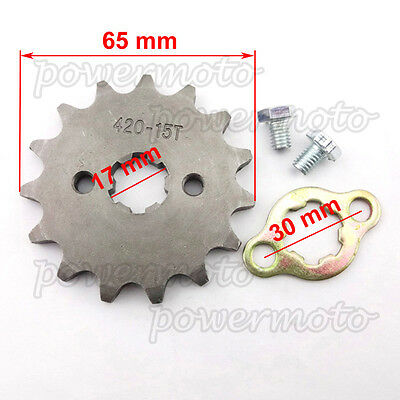 420 15 Tooth 17mm ID Front Engine Sprocket For 140 150cc Orion SDG Pit Dirt Bike