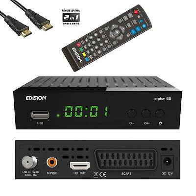 Edision Proton FullHD DVB-S2 Sat-Receiver USB HDTV HD-Reseiver inkl.HDMI-Kabel