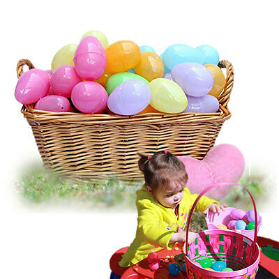 "Plastic Easter Egg 12 Pieces Assorted Color 2"" Plastic Fillable Easter Eggs"