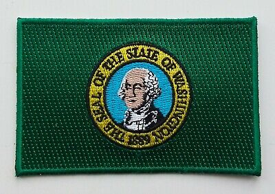 WASHINGTON STATE FLAG PATCH United States of America Embroidered Badge 6x9cm USA