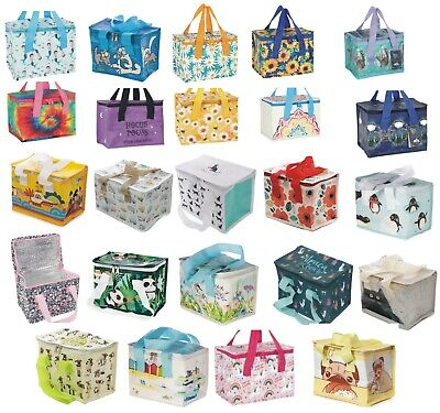 New Cool Bag Lunch Box Picnic Childrens Adult Kids Gift Insulated zipped choice