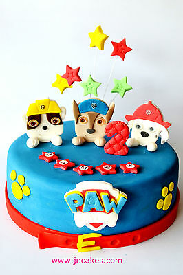 PAW PATROL cake toppers edible decoration personalised birthday unofficial icing
