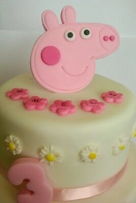 PEPPA PIG cake toppers edible decoration personalised birthday unofficial