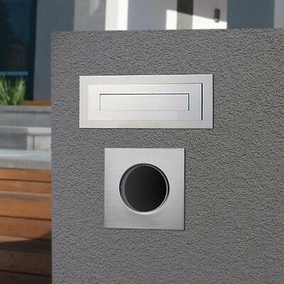 Milkcan Letterbox Carrera Stainless Steel Brick In Mailbox + Sq Paper Holders