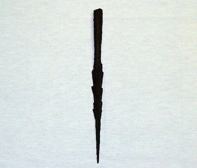 """UNIQUE ANCIENT LATE ROMAN/EARLY BYZANTINE IRON SPEAR POINT 258 mm 10"""" 1-4 C. A.D"""
