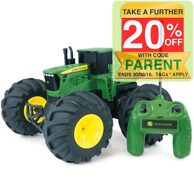 John Deere Monster Treads Remote Radio Controlled RC Tractor Toy Kids/Children