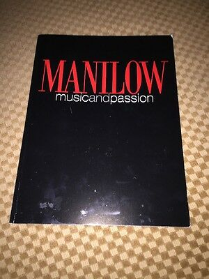 BARRY MANILOW Music And Passion PROGRAM RARE Great Condition Postcards Too.
