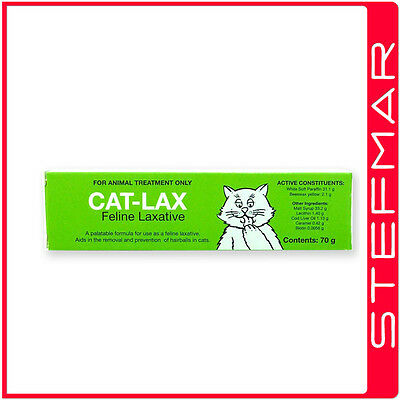 Cat-Lax Cat Lax 70g Feline Laxative -Removal/Prevention of Hairballs in Cats