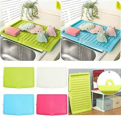 Large Kitchen Dish Plate Cup Fork Spoon Drying Tray Sink Drainer Storage Holder