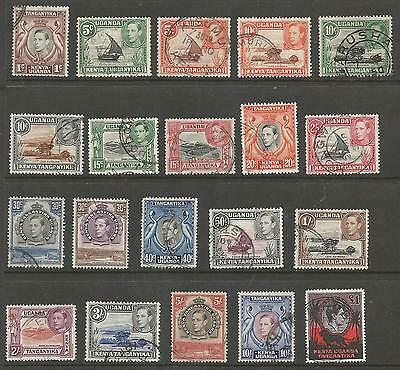 K.u.t. The 1938-54 Gvi Set Of 20 Fine Used Cat £50 As Cheapest