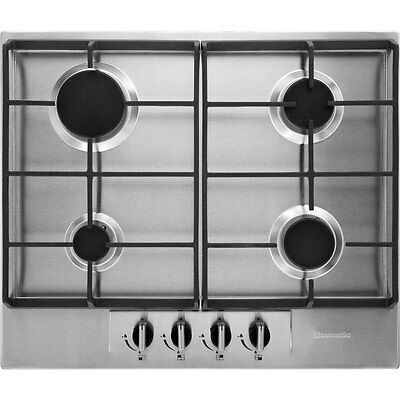 Baumatic BHG620SS Built In 60cm 4 Burners Gas Hob Stainless Steel New from AO