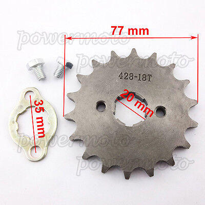 428 18 Tooth 20mm ID Front Sprocket For 140 150 160cc GPX SSR Orion SDG Pit Bike
