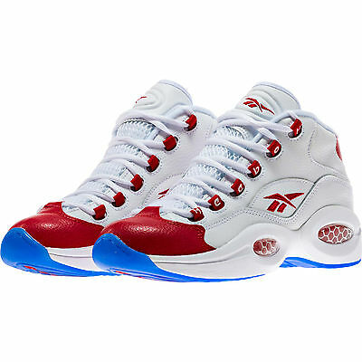 e4bab2c8a59 Reebok Question Mid PEARLIZED RED Toe White Allen Iverson J98948 OG 20t ( YOUTH)