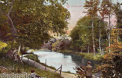 Belfast, On the River Lagan, old coloured postcard, posted 1911