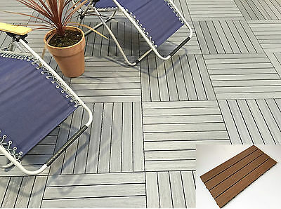 Composite Decking Tiles - No Staining - Easy Lay - Easy Clean - DIY