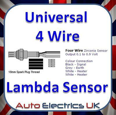 UNIVERSAL LAMBDA SENSOR 4 WIRE OEM PREMIUM PRODUCT Instructions Included