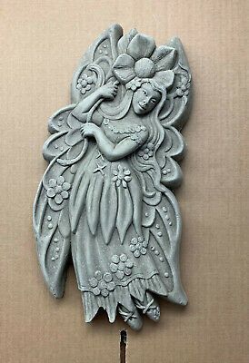 Ella the Fairy Wall Plaque-Garden Ornament-Wall Hanging-Sculpture-Stone-Gift
