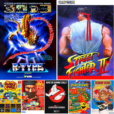 Arcade / Mame Flyers - Large A3 Or Standard A4 Reproduction Poster - Free Uk P&P