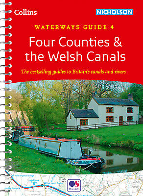 Waterways Guide 4 Four Counties & the Welsh by Collins Maps (Spiral bound, 2019)