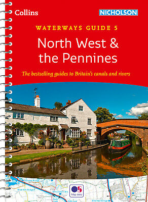 Waterways Guide 5 North West & the Pennin by Collins Maps (Spiral bound)