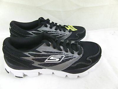 New! Boy's Skechers Go Run Ride Running Athletic Shoe 95671L Size 13 Black  30E