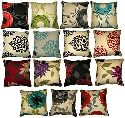 Cushion Covers Size 18 x 18 Printed 100% Percale Cotton Decorative Floral Circle