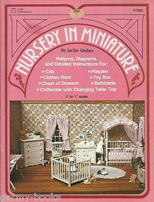 Nursery in Miniature Jackie Deiber House Furniture Pattern Instruction Book 1979